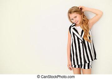 child in summer costume