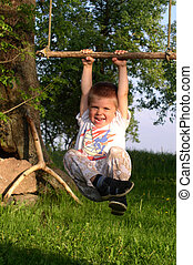 Child in summertime