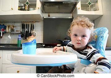Child in the kitchen