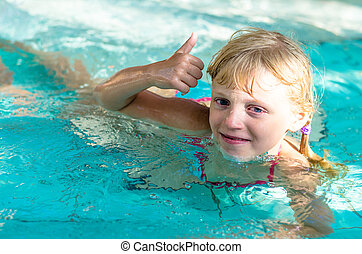 child in the water