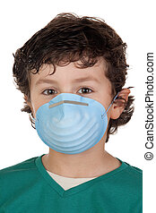 Child infected with influenza A