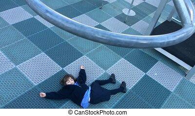 Child injured in playground - Child, girl age 05, injured in...