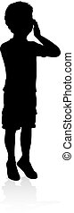 Child Kid Silhouette - A high quality detailed kid child in...