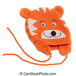 Child knitted hat with pattern