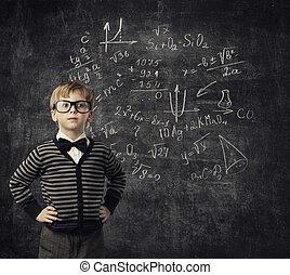 Child Learning Mathematics, Children Education, Student Kid Learn Math