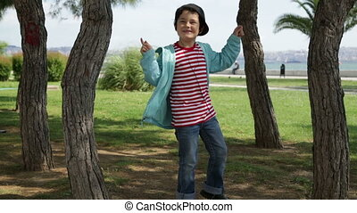 Child likes dancing