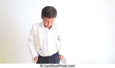 Child looking at camera seriously