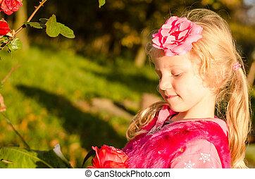 child lovely blond