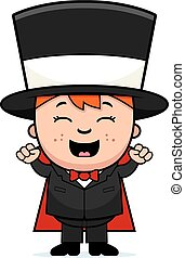 Child Magician Excited
