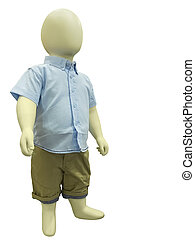 Child mannequin dressed in casual clothes.