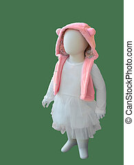 Child mannequin in fashions clothes