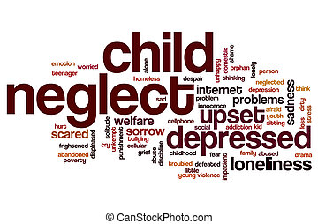 Child neglect word cloud concept