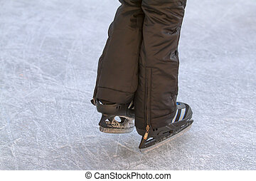 Child on an ice rink