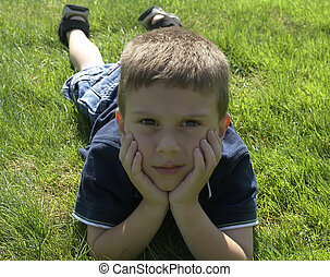 Child on Grass 2