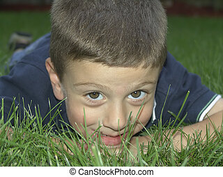 Child on Grass