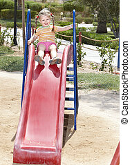 Child on playground.