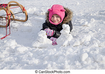 child on snow
