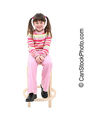 Child On Stool