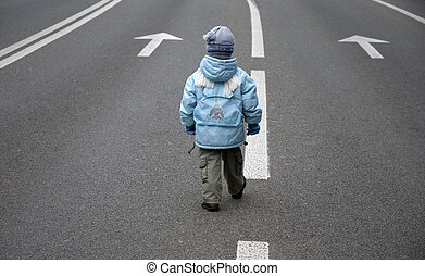 child on the road 1