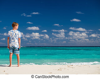 Child on vacation in Mexico