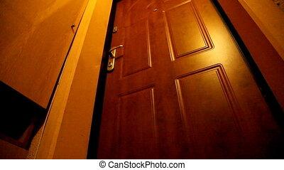 door - child opens the door