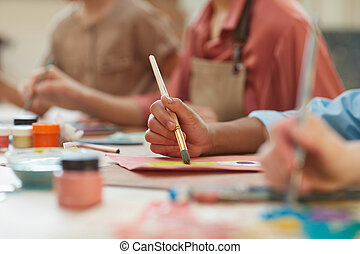 Child painting a picture