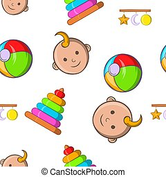 Child pattern, cartoon style