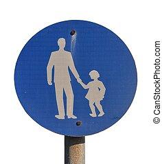 Child pedestrian sign