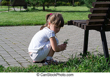 child playing in the park