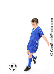 Child playing soccer