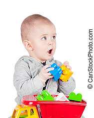 child playing with a toy