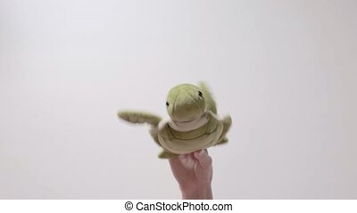 Child plays with a turtle toy. Part_08.
