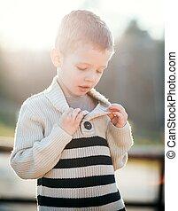 Child portrait beautiful little boy