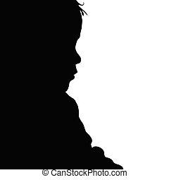 child posing silhouette illustration