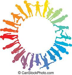 Child rainbow star