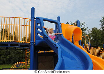 Child Ready to Slide