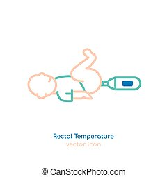 Child rectal temperature - Measuring child rectal ...