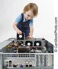 child repairing network computer