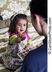 Child rewarded for good behavior