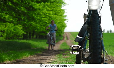 Child Riding The Bike