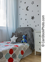 Child room with bed