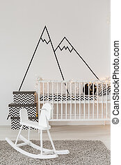 Child room with crib