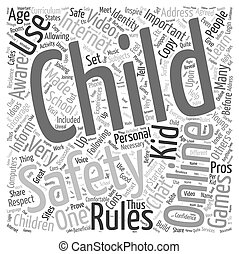 Child Safety Online Word Cloud Concept