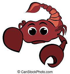 Child scorpio - Cartoon illustration of scorpio zodiac sign