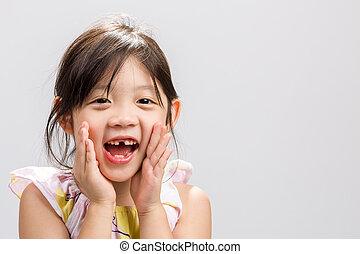 Child Shouting Background / Child Shouting / Child Shouting, Studio Isolated Background