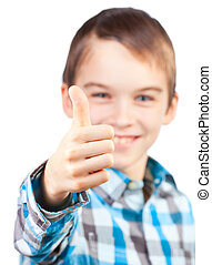 Child showing thumb