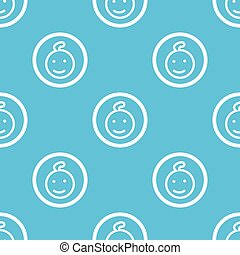 Child sign blue pattern