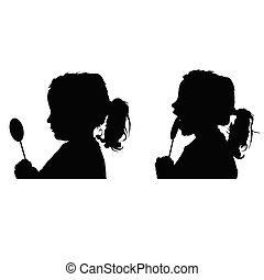 child silhouette with lolipop