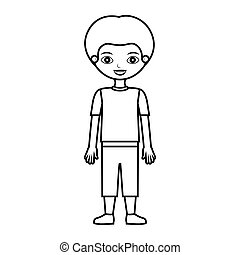 child silhouette with t-shirt and shorts