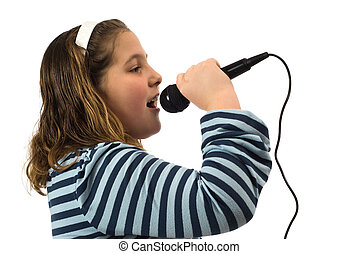 Child Singing In Microphone